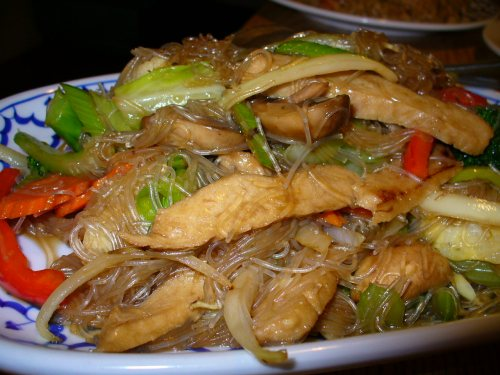 Vege Thai - Glass Noodles with garlic
